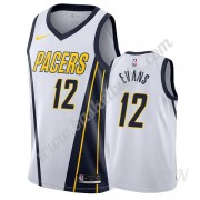 Barn NBA Tröja Indiana Pacers 2019-20 Tyreke Evans 12# Vit Earned Edition Swingman..